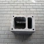 Skorsten blokelis su ventiliacija