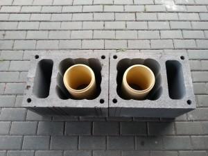 Dūmtraukio blokelis su ventiliacijos kanalu