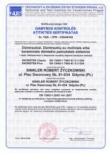 Gamybos kontroles sertifikatas D3